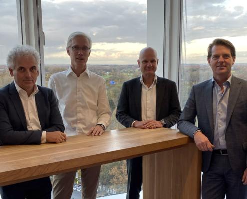 Het StiVAD-bestuur, november 2019 (vlnr) Jeroen Boogaard (Cushman & Wakefield), Boris van der Gijp (Syntrus Achmea Real Estate & Finance), Kaj Deana (Heimstaden), Roger Felix (MVGM Vastgoedtaxaties), Robbert van Dijk (a.s.r. real estate), René Clement (Wonen Limburg Accent), ontbreekt: Peter van Gool (ASRE).