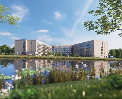 Nieuwbouwproject Hoog Dalem in Gorinchem onderdeel van Immo Zorgwoningfonds 5 aangekocht op 22 december 2020